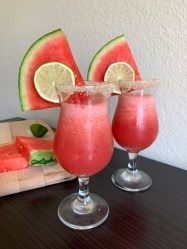 Easy watermelon margaritas with fresh watermelon