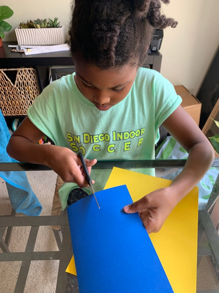 Kids can make their own homemade Father's Day cards for Dad