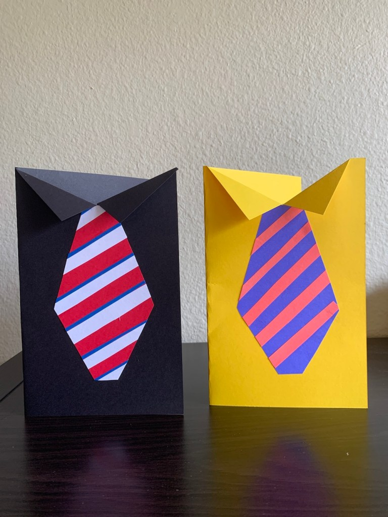 Shirt and striped tie cards for Dad