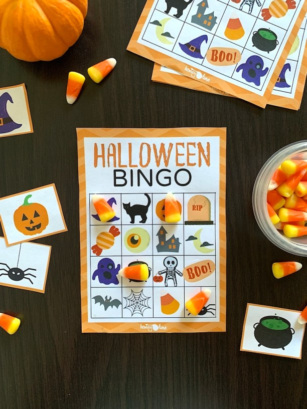 Fun Bingo Halloween game for kids