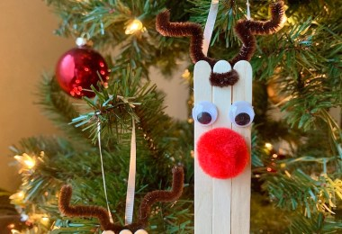 DIY reindeer Christmas ornament craft