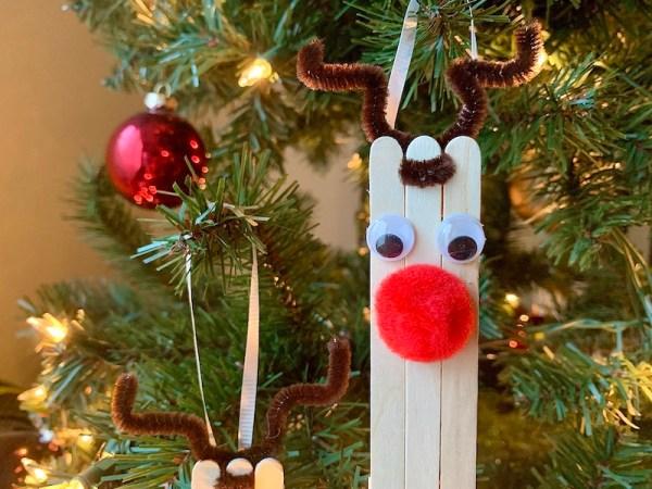 DIY reindeer Christmas ornament craft