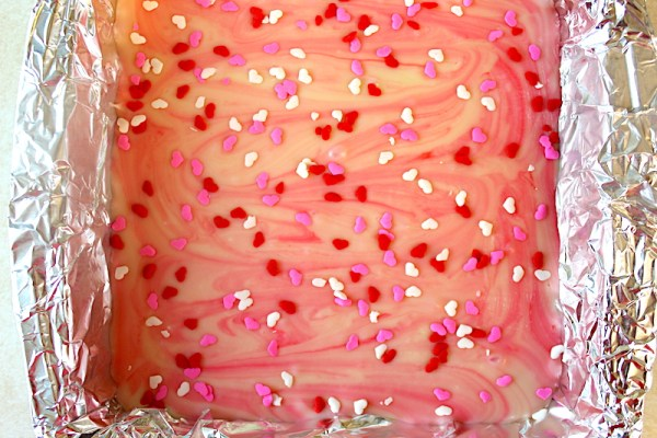 Refrigerated Valentine pink fudge recipe