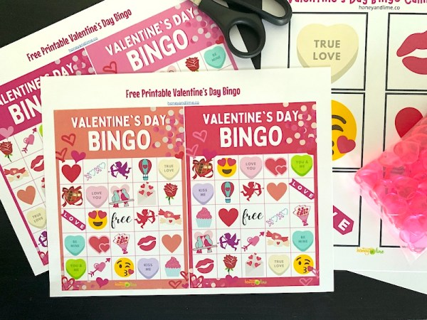 Free online printable valentine bingo cards