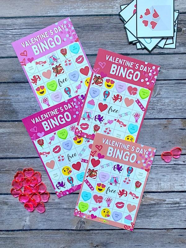 Valentines bingo free printable game cards