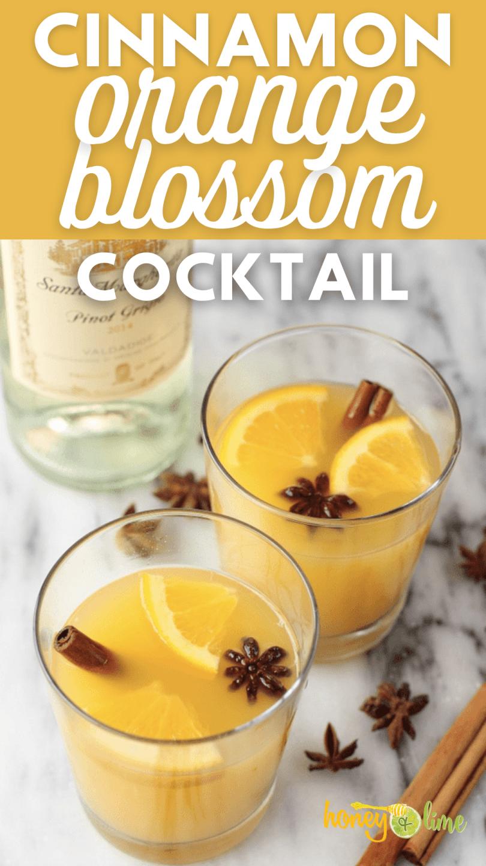 Orange blossom drink recipe with cinnamon and honey