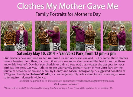 "Flyer for ""Clothes My Mother Gave Me"""