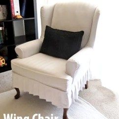 How To Make Slipcover For Wingback Chair Sturdy Dining Chairs My Wing Reveal A
