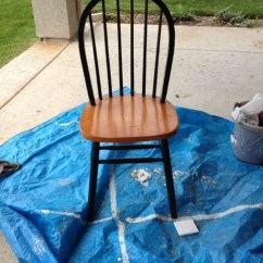 Diy Painted Windsor Chairs Iron Horse Ombre Honeybear Lane Preparation