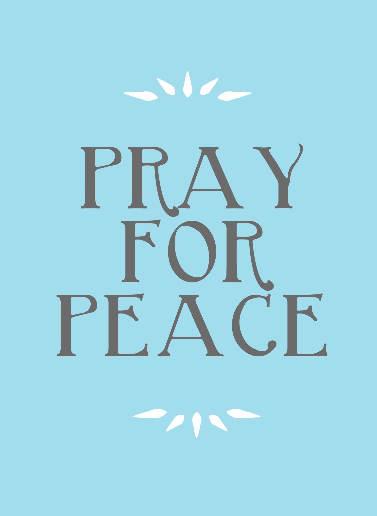 Praying For Peace In Memorium