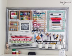 Extra Large Pegboard for Craft Room Organization