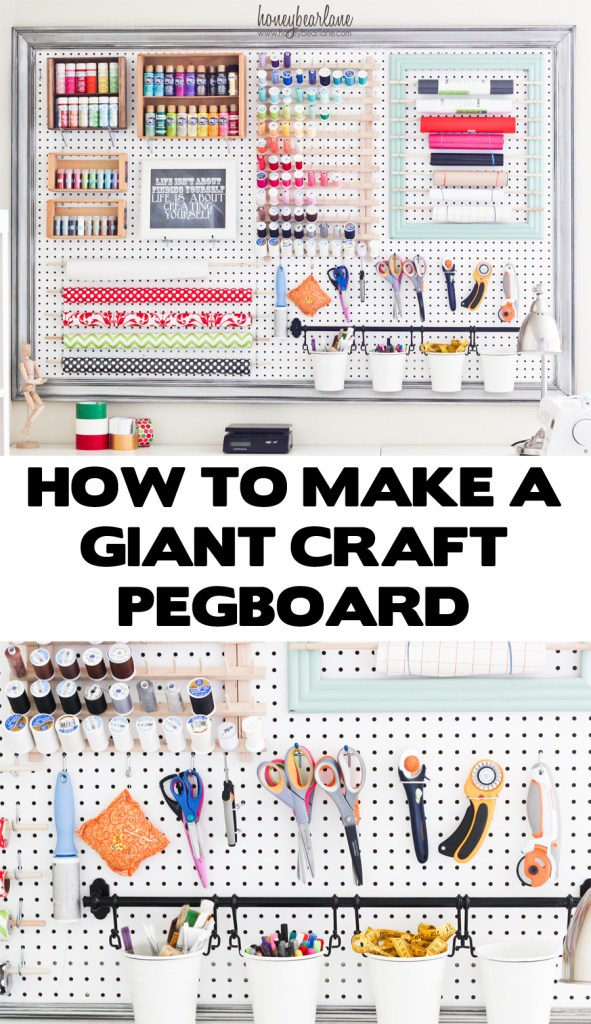 how to make a giant craft pegboard