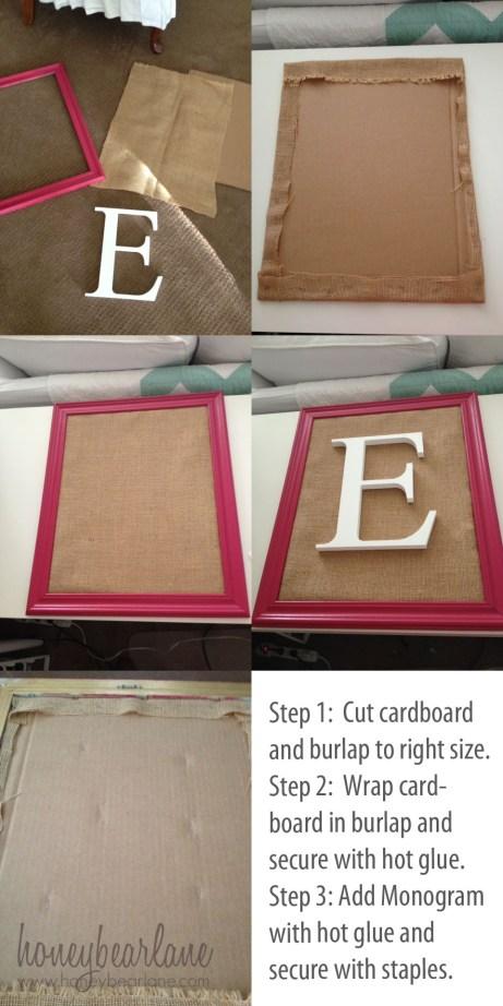 how to make a framed monogram