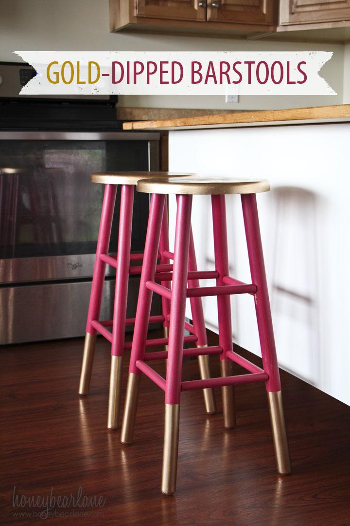 Astounding Gold Dipped Bar Stools Cjindustries Chair Design For Home Cjindustriesco