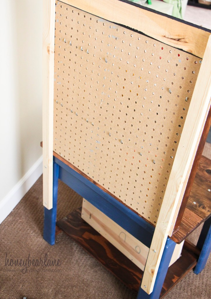 back of workbench