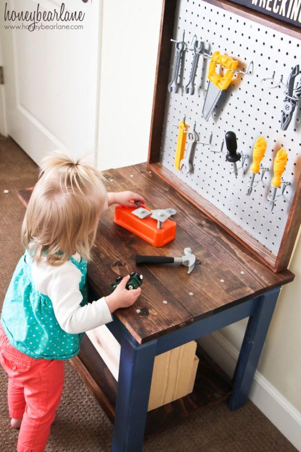 kids tool workbench