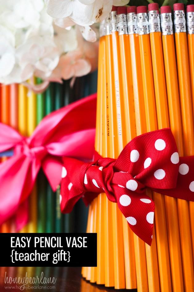 Easy pencil vase teacher vase