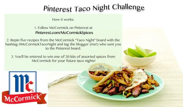 Pinterest Taco Night Challenge Info