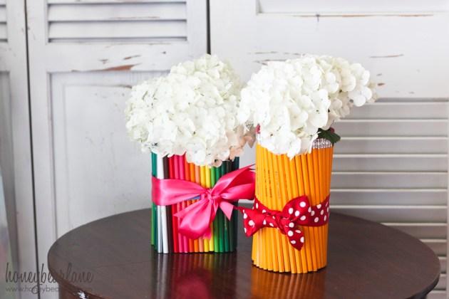 easy teacher gift pencil vase