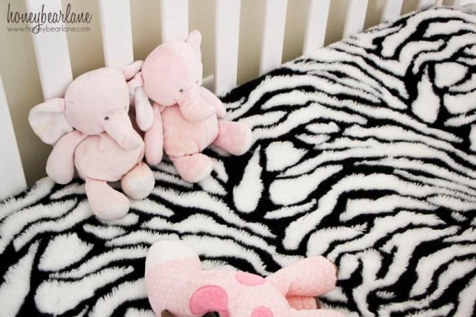 faux fur crib sheet