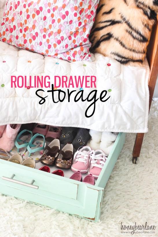 rolling drawer storage