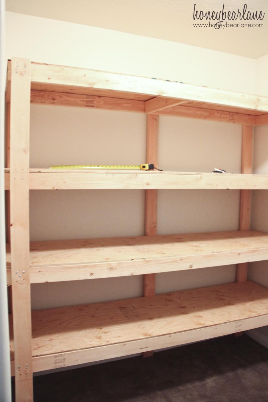 DIY Storage Shelves  Honeybear Lane