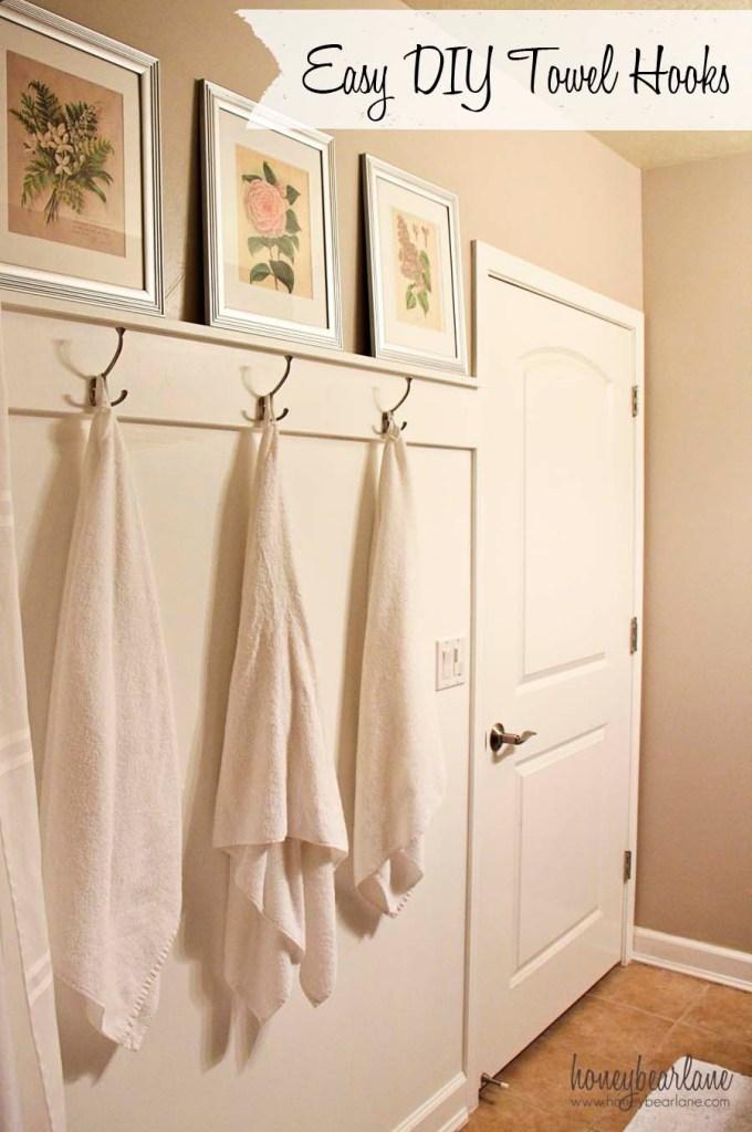 easy DIY towel hooks