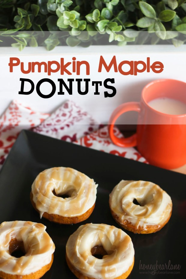 Pumpkin Maple Donuts