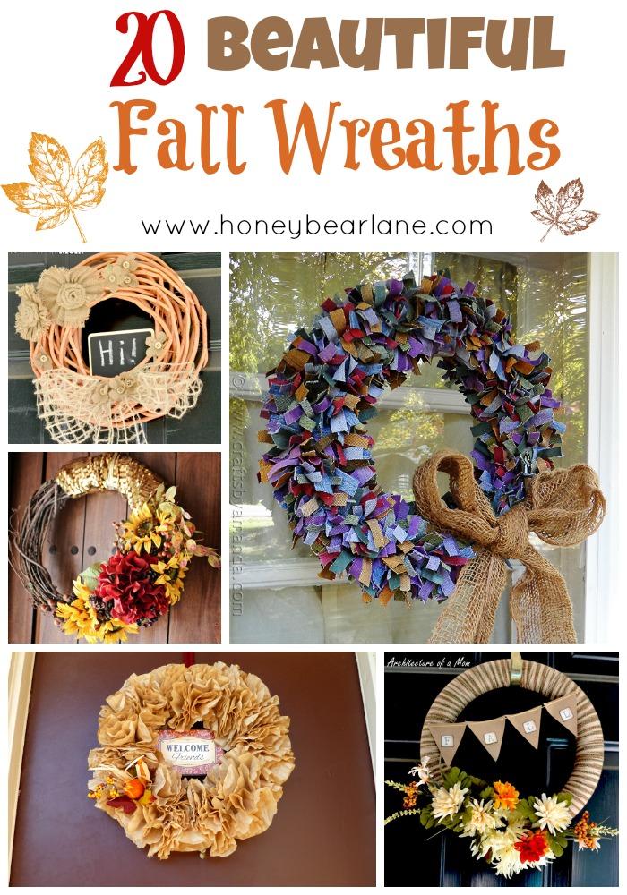 20 beautiful fall wreaths!
