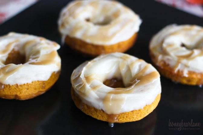 pumpkin maple doughnuts