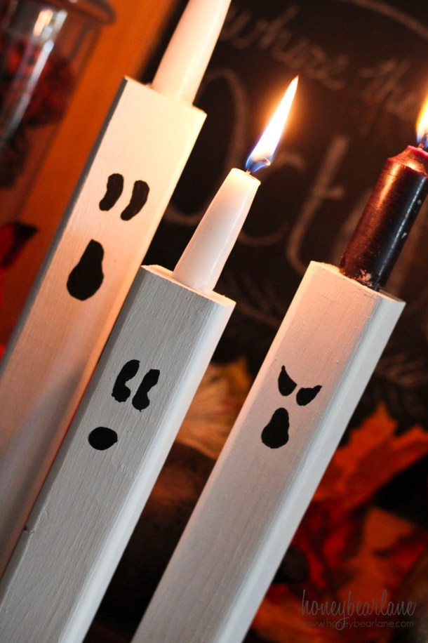 ghost candle stick holders