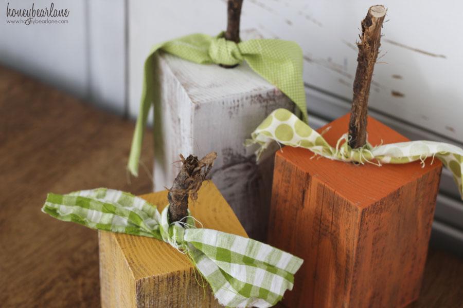 Rustic Wood Pumpkins  HoneyBear Lane