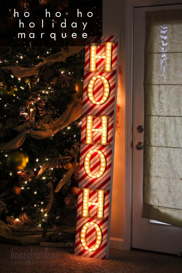 ho ho ho holiday marquee