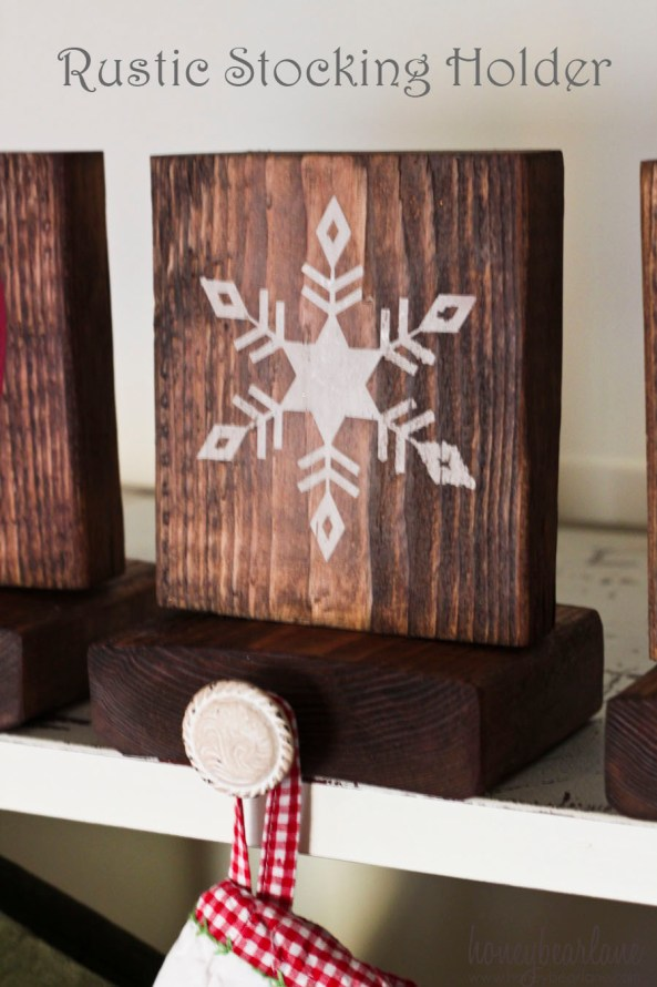 rustic stocking holder