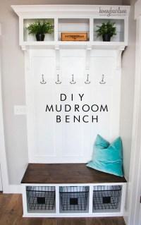 DIY Mudroom Bench - HoneyBear Lane