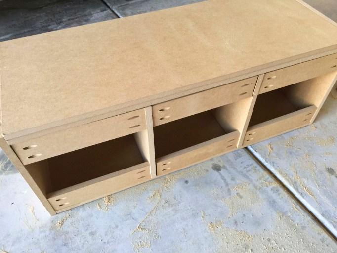 diy built in mudroom bench