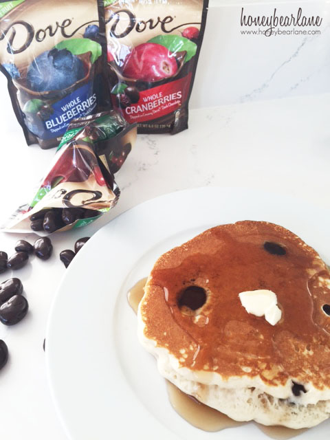 pancakes with dove fruit