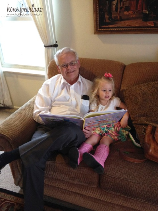 ellie and granpa reading books