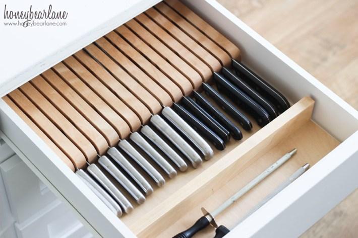 knife drawer organization