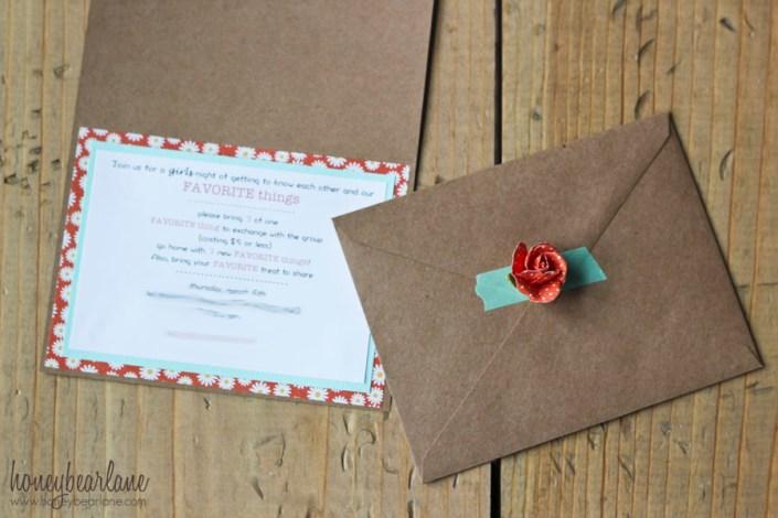 favorite things invitation