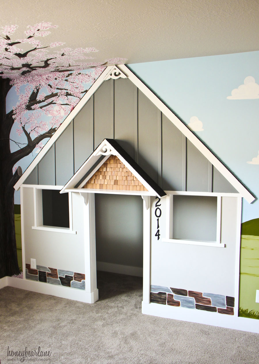 Built in Indoor Playhouse  Honeybear Lane