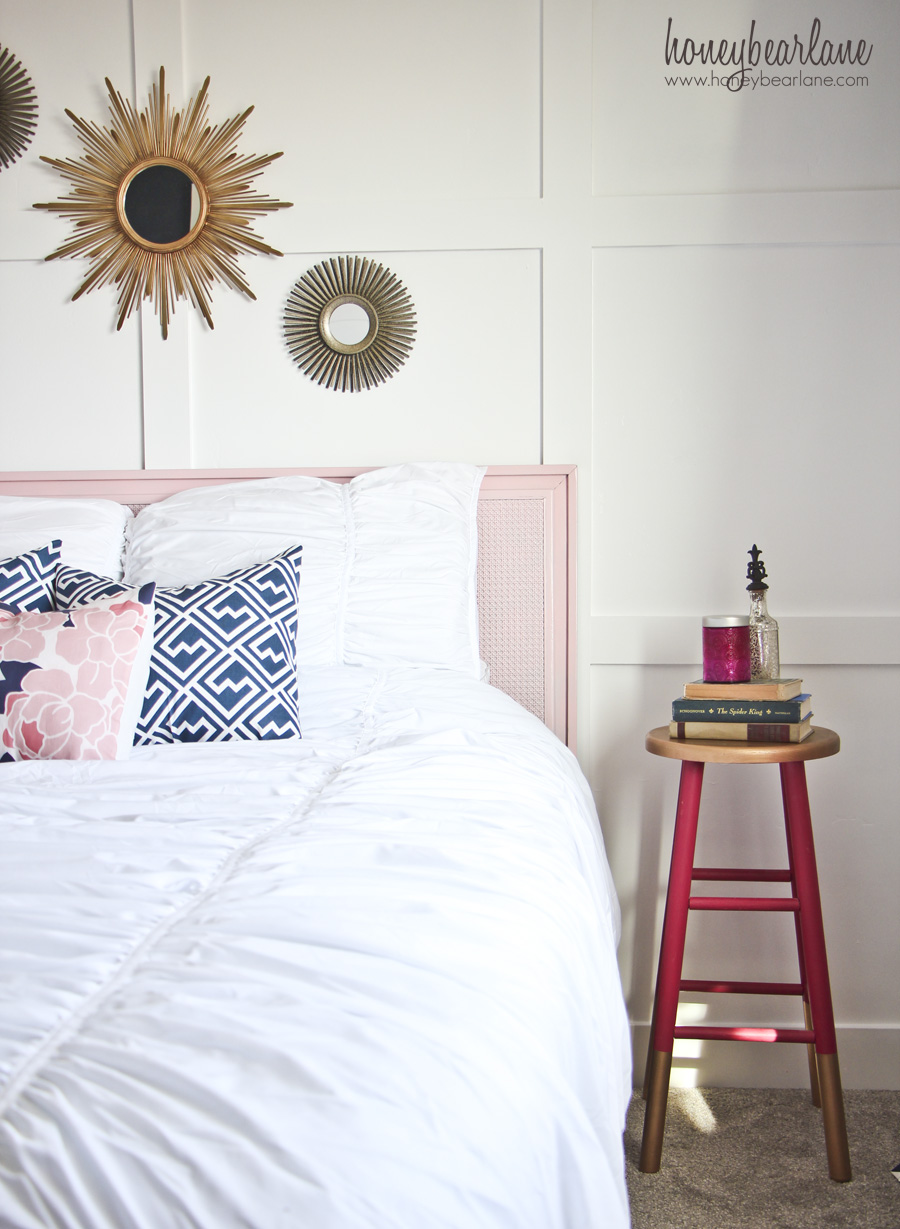 Navy and Pink Guest Room Reveal  HoneyBear Lane