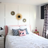 NAVY AND PINK GUEST ROOM REVEAL