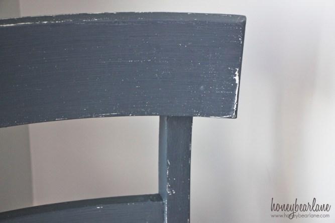 dark gray chalk paint