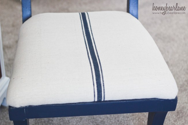 french grainsack chair seat