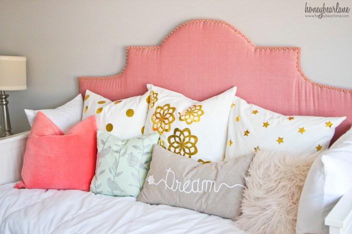 gold foil pillows