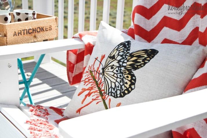 outdoor butterfly pillow