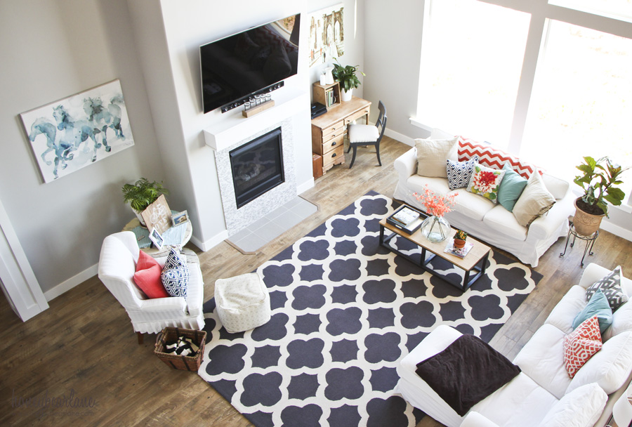 Colorful Living Room  Honeybear Lane
