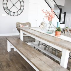 Build Kitchen Table Outdoor Grills Diy Farmhouse And Bench Honeybear Lane