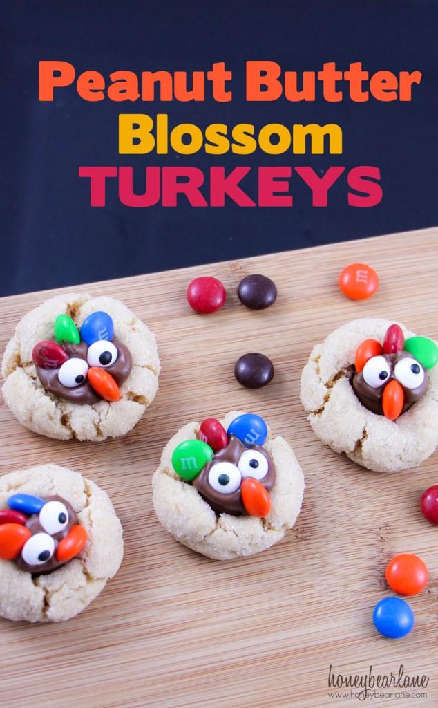 peanut butter blossom turkeys